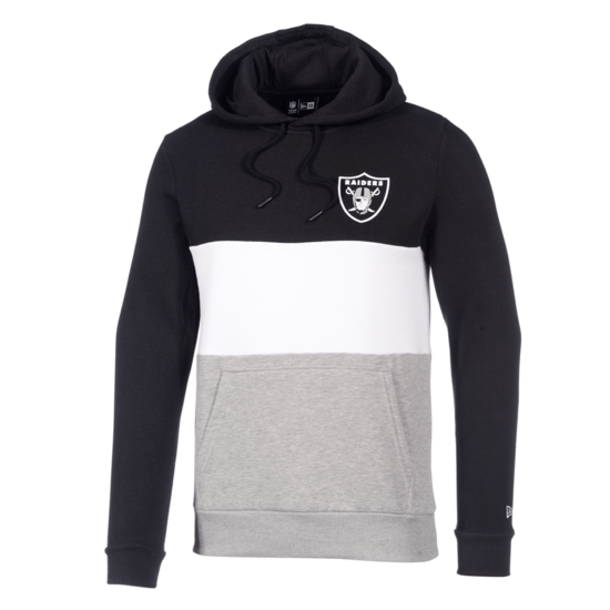 New Era Las Vegas Raiders Hoodie Colourblock schwarz/weiß/grau