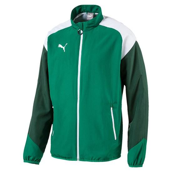 Puma Freizeitjacke Team Grün/Weiß