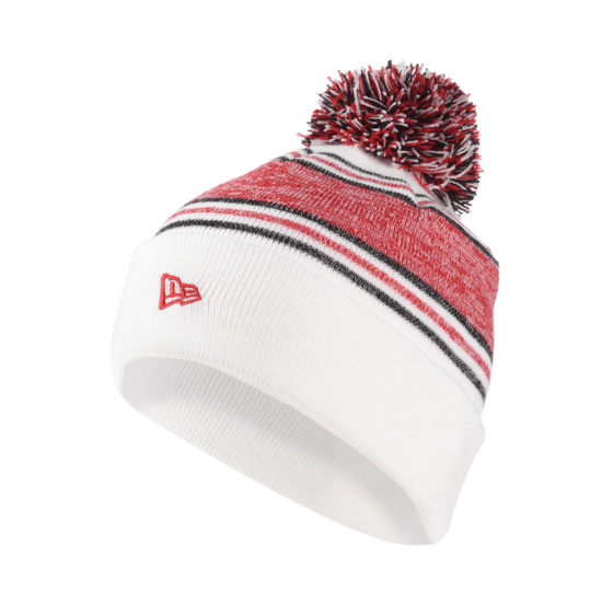 New Era Manchester United Beanie Bobble Cuff weiß