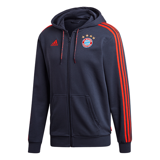 Adidas FC Bayern München 3S Kapuzenjacke Marine