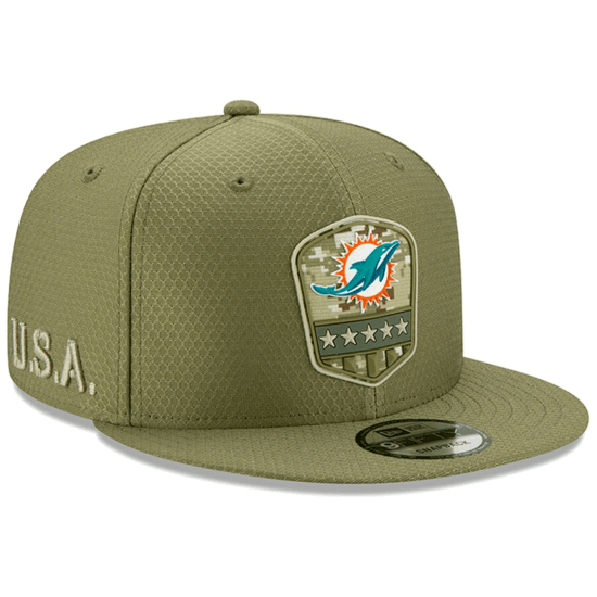 New Era Miami Dolphins Cap Salute To Service 9FIFTY oliv