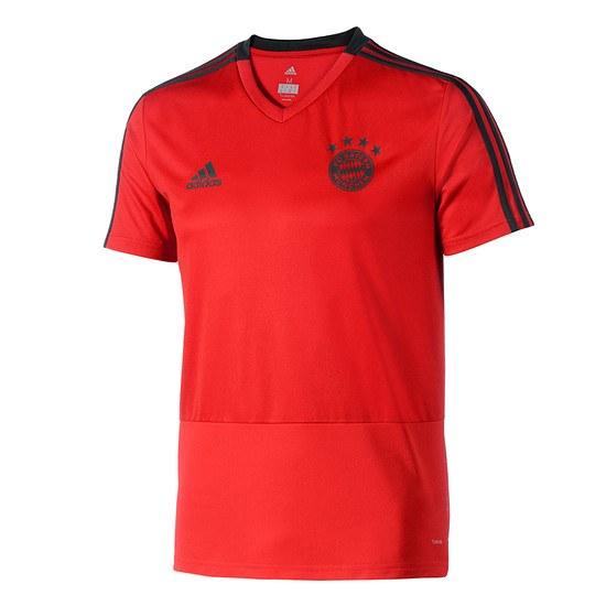 Adidas FC Bayern München Trainingsshirt Kinder Rot/Schwarz