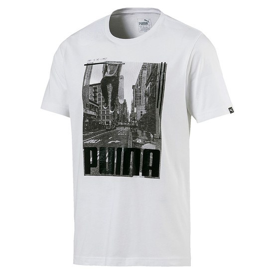 Puma T-Shirt City Photo Weiß