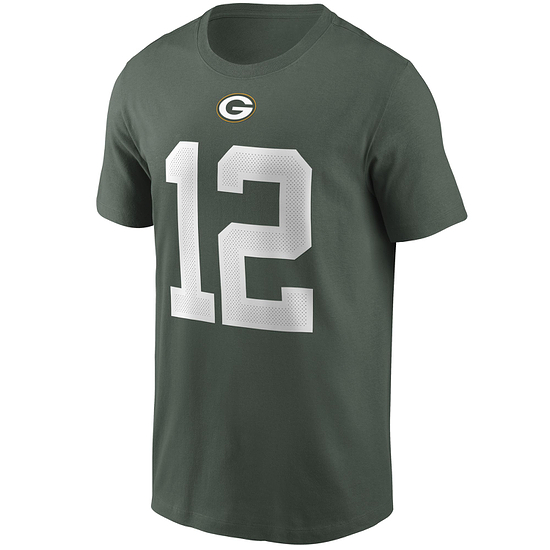 Nike Green Bay Packers T-Shirt Player Rodgers 12 grün