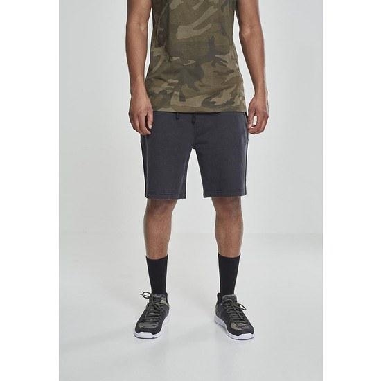 URBAN CLASSICS Shorts Acid Wash schwarz