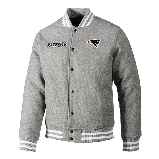 New Era New England Patriots Bomberjacke Team grau