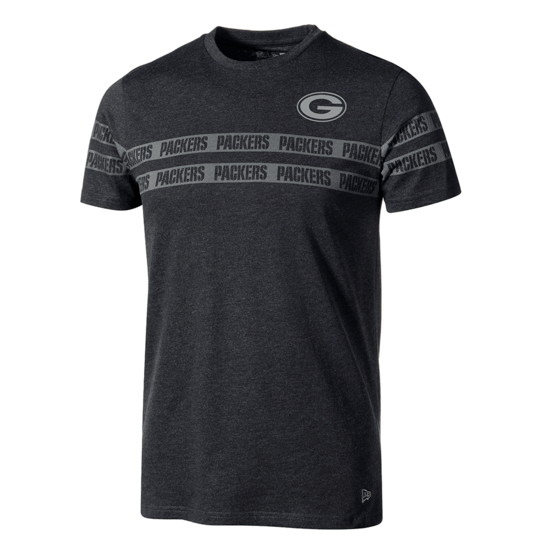 New Era Green Bay Packers T-Shirt Tonal Black grau/schwarz