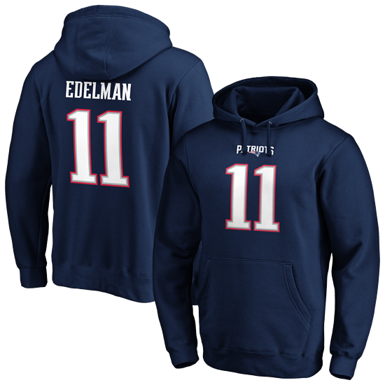 Fanatics New England Patriots Hoodie N&N Edelman No 11 navy