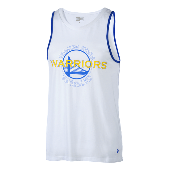 New Era Golden State Warriors Tanktop Double Logo weiß