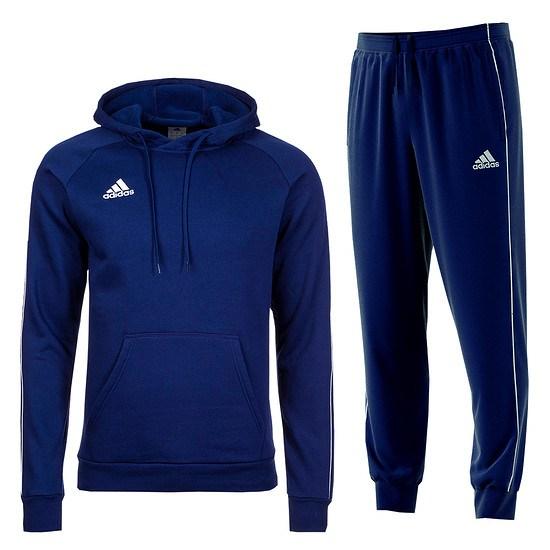 Adidas Freizeitanzug Core 18 Blau