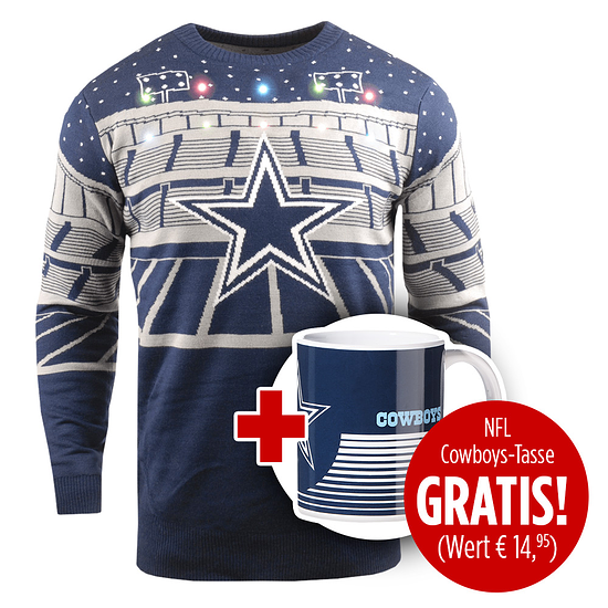 Forever Collectibles Dallas Cowboys Ugly Sweater plus Tasse