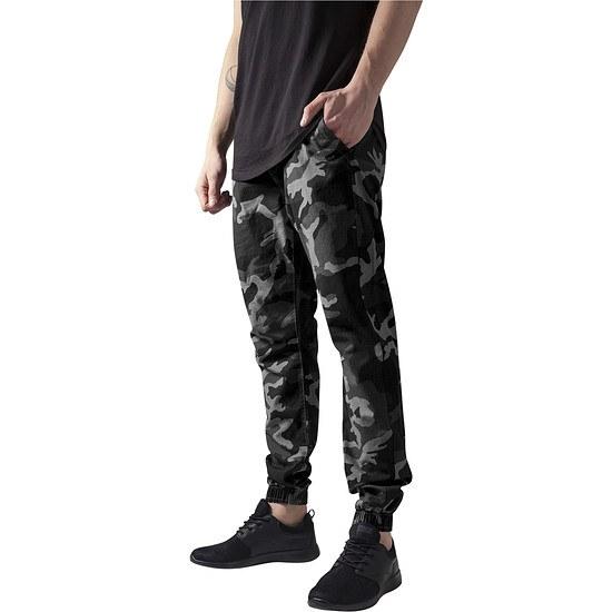 URBAN CLASSICS Jogginghose Camo Ripstop camouflage/grau
