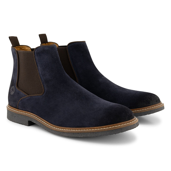 TRAVELIN OUTDOOR Boot Glasgow Suede Chelsea blau