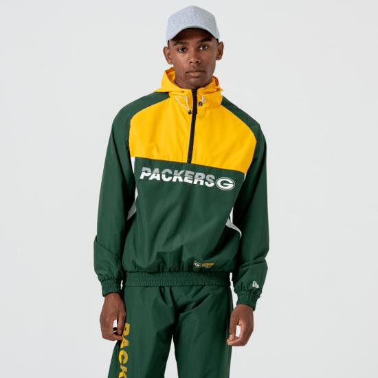 New Era Green Bay Packers Windbreaker Colour Block grün/gelb/weiß
