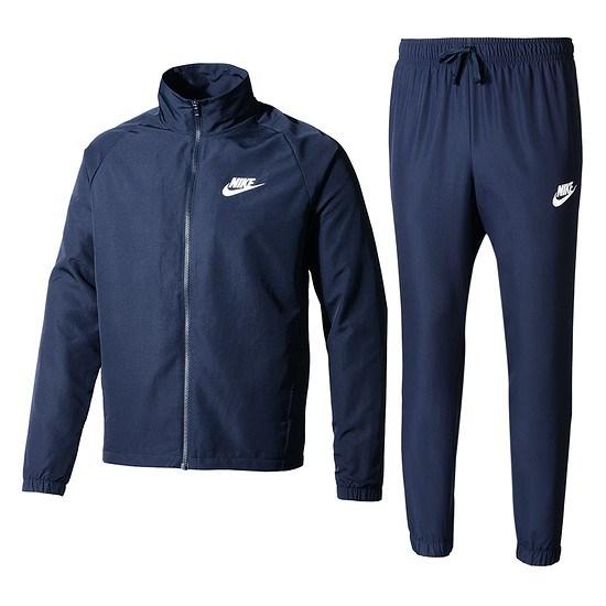 Nike Trainingsanzug Track Suit blau/weiß