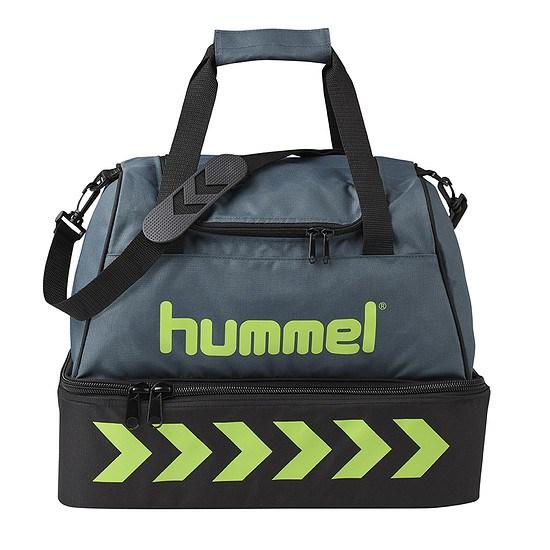 hummel Fußballtasche Authentic Soccer grau/grün