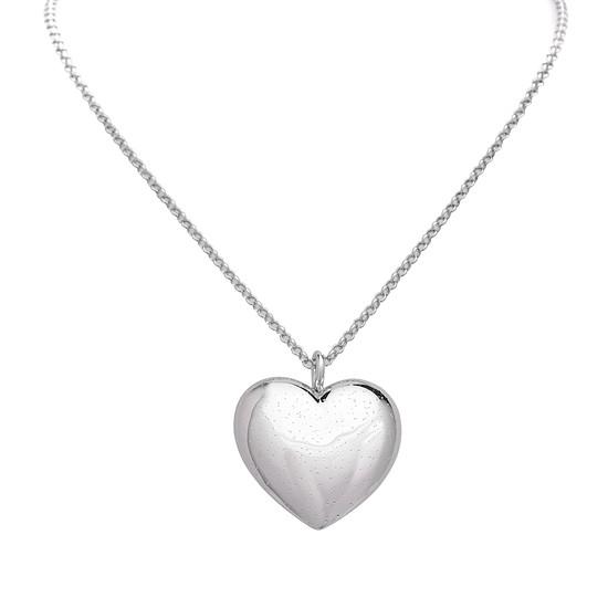 S. Oliver Damen Halskette 75 cm mit Herz-Anhänger Silber