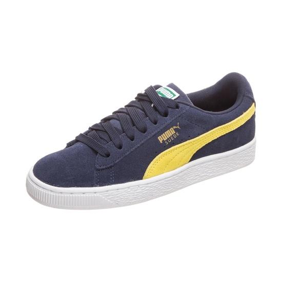 Puma Sneaker Suede Classic dunkelblau/gelb