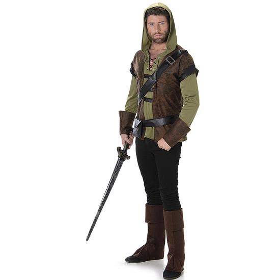 Karnevals- Kostüm Bogenschütze Mittelalter braun/grün
