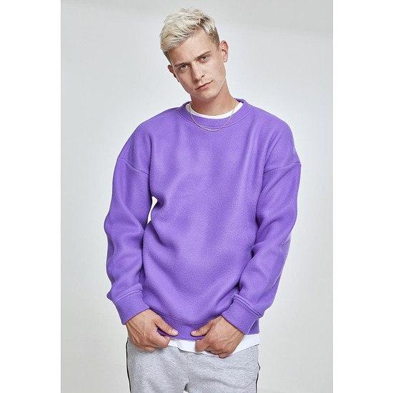 URBAN CLASSICS Sweatshirt Polar Fleece ultraviolett