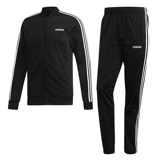 Adidas Trainingsanzug 3 Streifen Schwarz