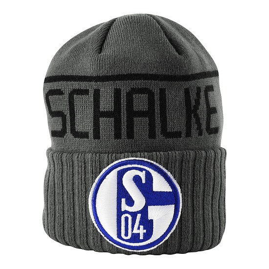 New Era FC Schalke 04 Beanie Rippe Grau