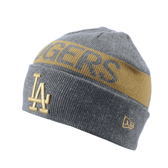 New Era Los Angeles Dodgers Beanie Marl Cuff Knit weiß/grau
