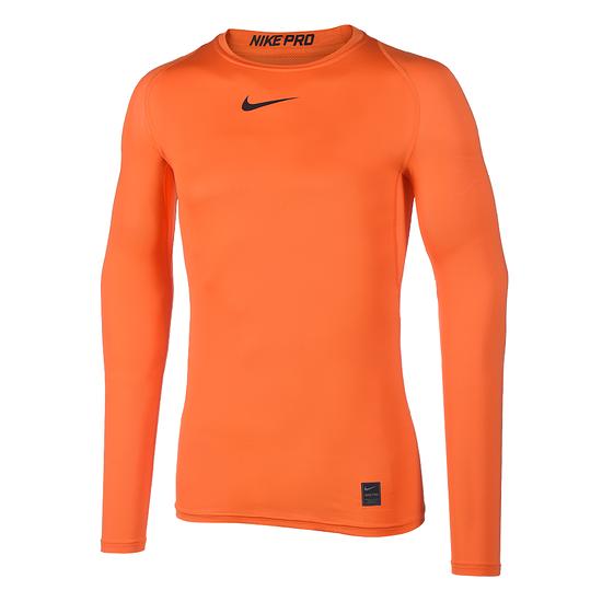 Nike Pro Langarmshirt Top Compression Crew Orange