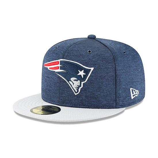 New Era New England Patriots Cap 59FIFTY Sideline Home blau/grau