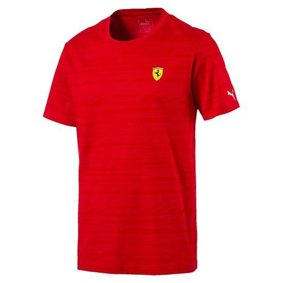 Puma Ferrari T-Shirt Profil Rot