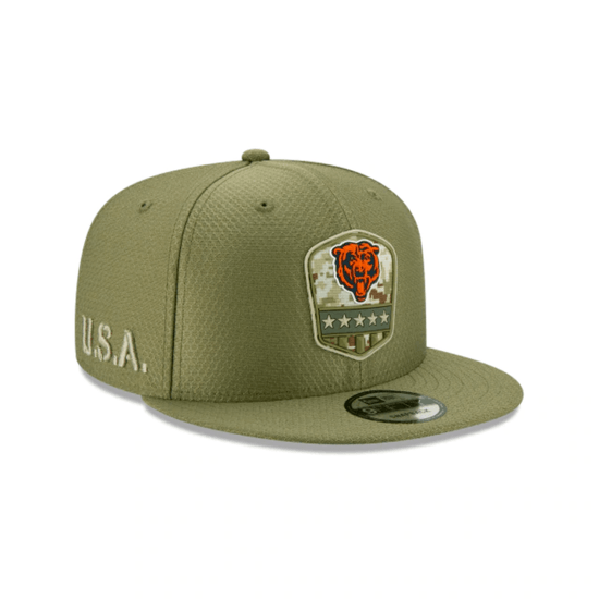 New Era Chicago Bears Cap Salute To Service 9FIFTY oliv