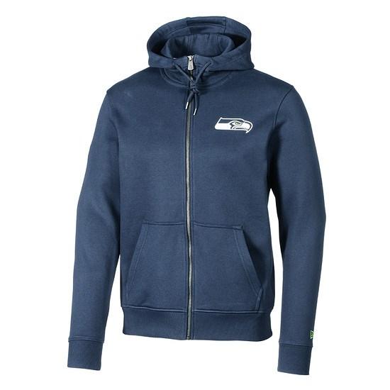 New Era Seattle Seahawks Full-Zip Hoodie Number blau