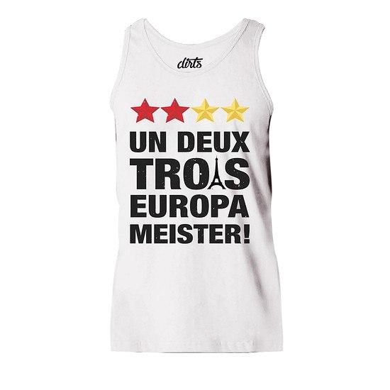DIRTS Tanktop Un Deux Trois Europameister! weiß