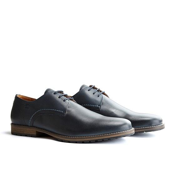 TRAVELIN OUTDOOR Schuh Manchester Leather Dunkelblau