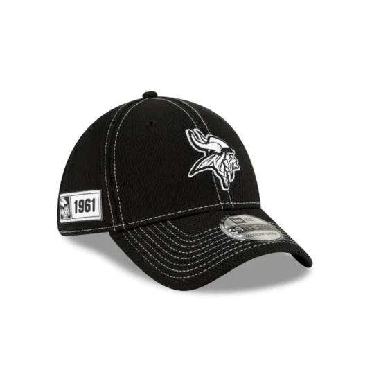 New Era Minnesota Vikings Cap Sideline RD 39THIRTY schwarz