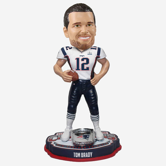 Forever Collectibles New England Patriots Bobblehead Tom Brady blau/silber