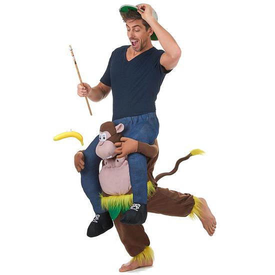 Karnevals- Kostüm Tragender Affe Carry-Me bunt
