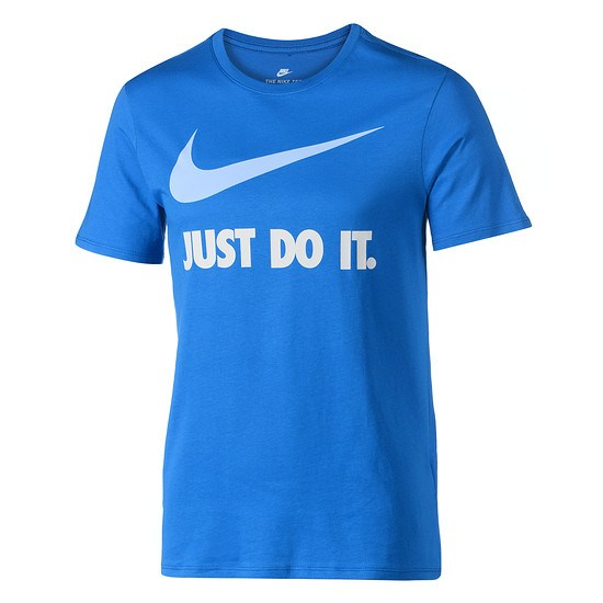 Nike T-Shirt Just Do It Swoosh Blau/Hellblau