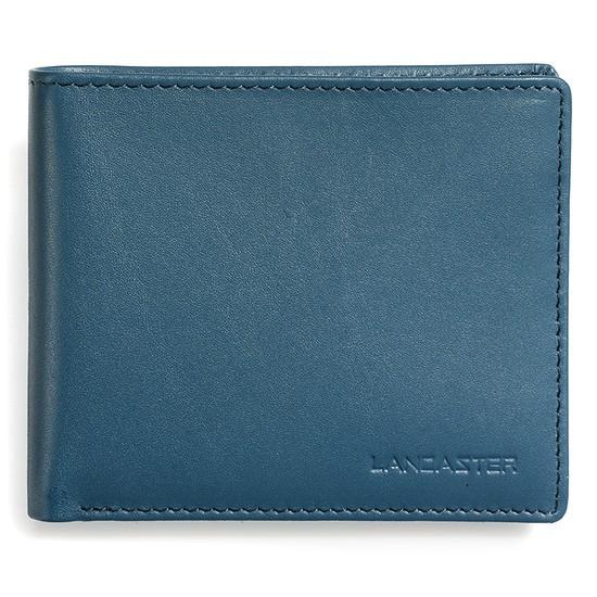Lancaster Herren Geldbörse ohne Münzfach blau