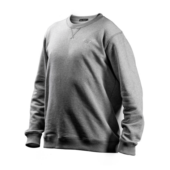 Cotton Butcher Sweatshirt Rundhals grau