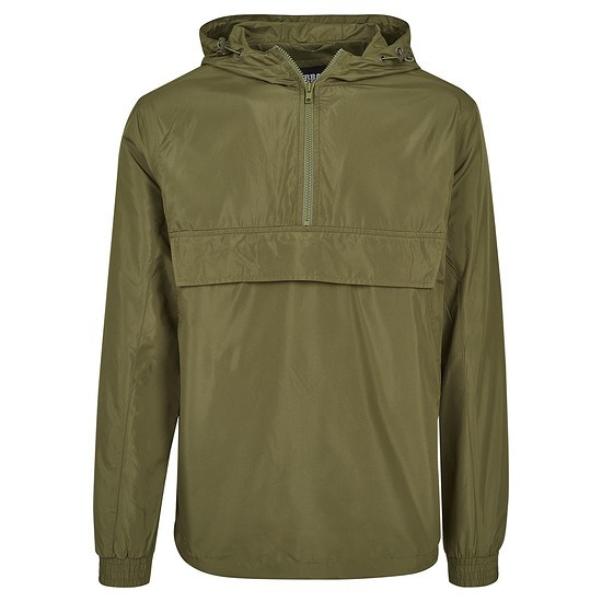 URBAN CLASSICS Jacke Basic Pull Over olive