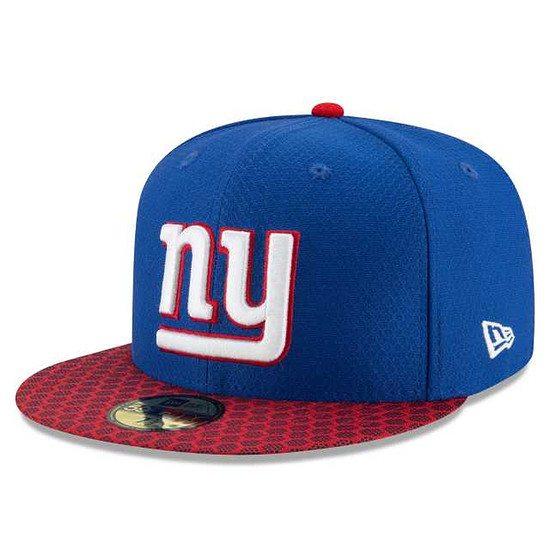 New Era New York Giants Cap NFL 2018 59FIFTY Sideline blau
