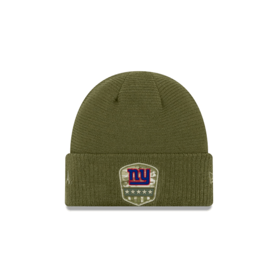 New Era New York Giants Beanie Salute To Service 2019 oliv