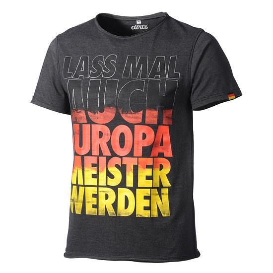 DIRTS T-Shirt Lass mal auch Europameister werden grau