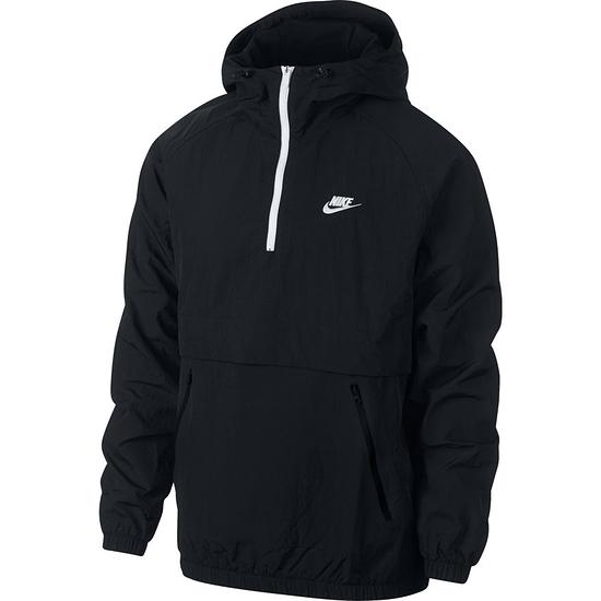 Nike Schlupfjacke Windstopper mit Zip Schwarz