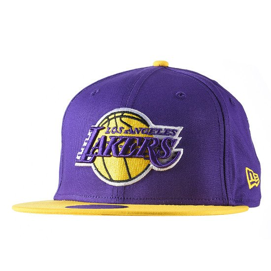 New Era Los Angeles Lakers Cap Team 9FIFTY lila/gelb