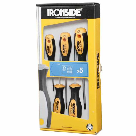 Ironside Schraubendreher-Set 5tlg Tx00 gelb/schwarz