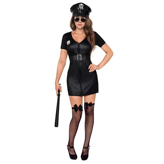 Karnevals- Kostüm Polizistin Damen schwarz