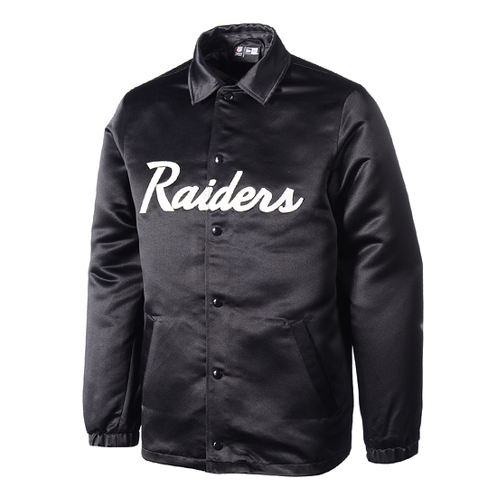 New Era Las Vegas Raiders Jacke Satin Coach schwarz