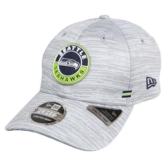 New Era Seattle Seahawks Cap Road 9FORTY Sideline 2020 hellgrau meliert